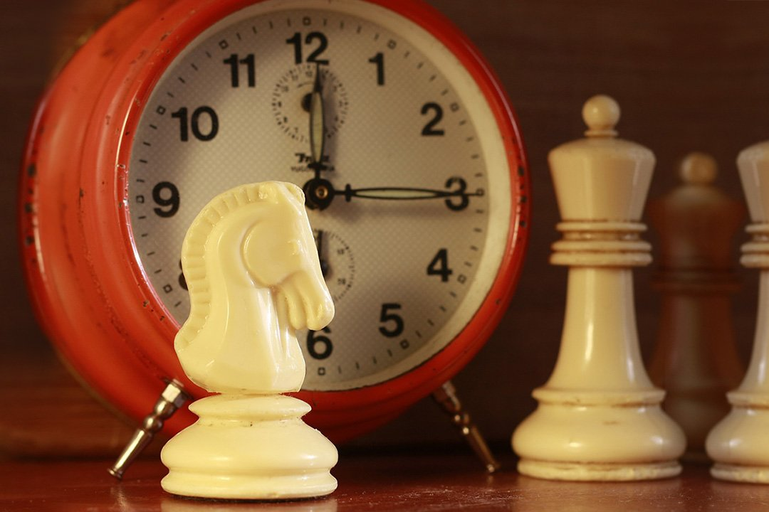 Plastics chess piece and clock