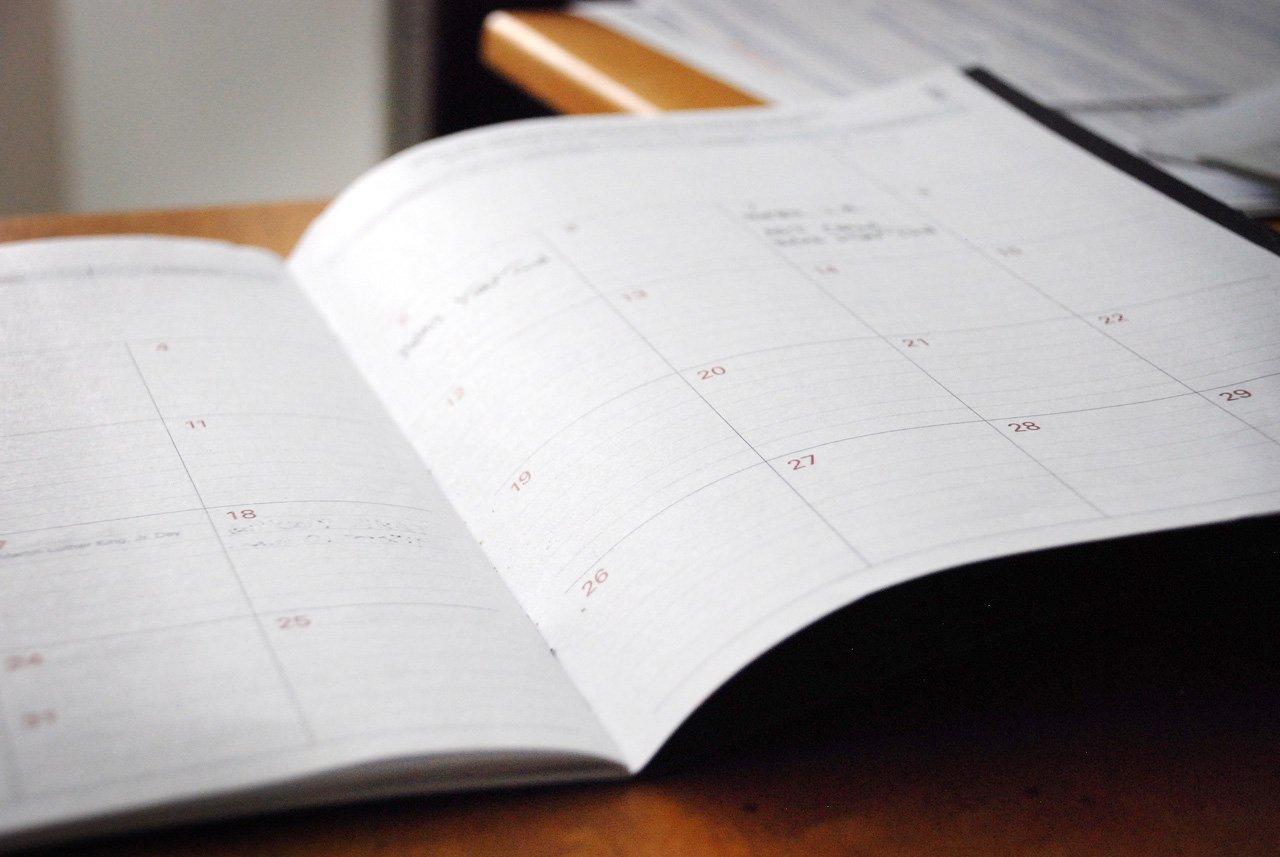 September calendar book