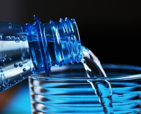 PET plastic water bottle