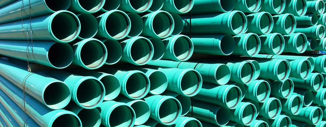 PVC irrigation pipes