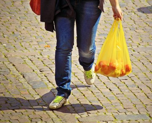 PE-LD plastic shopping bag