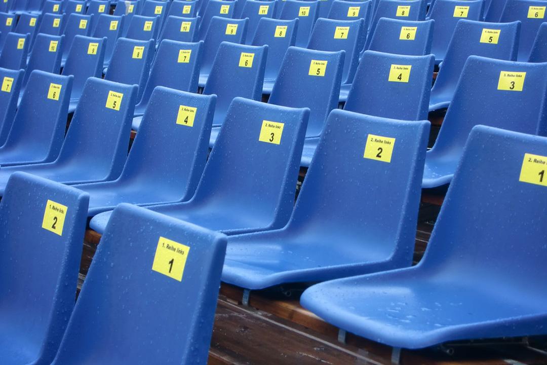 PP plastic stadium seating